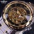 Transparente Relógio De Ouro Dos Homens Relógios Top Marca de Luxo Relogio Masculino Relógio Men Casual Assista Montre Homme Relógio Esqueleto Mecânico