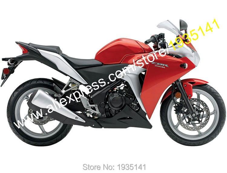 Ventes chaudes, Pour Honda CBR250RR MC41 2011-2014 CBR250 11 12 13 14 CBR250 RR Rouge Noir ABS carénage kit carrosserie (moulage par injection)
