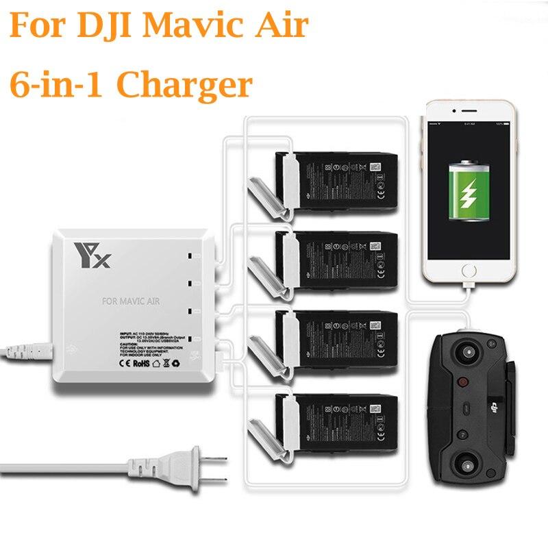 DJI Мавик Air Зарядное устройство концентратора 4 зарядки батареи для DJI Мавик Air drone USB Порты и разъёмы интеллектуальные Батарея и пульт дистанц...