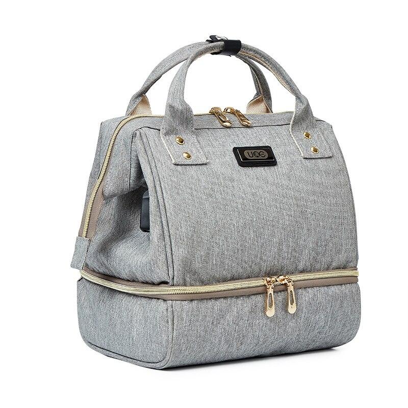 おむつバックパックバッグのためのおむつ収納ママベビーカー旅行ため小さなハンドバッグ usb ママバッグオーガナイザー