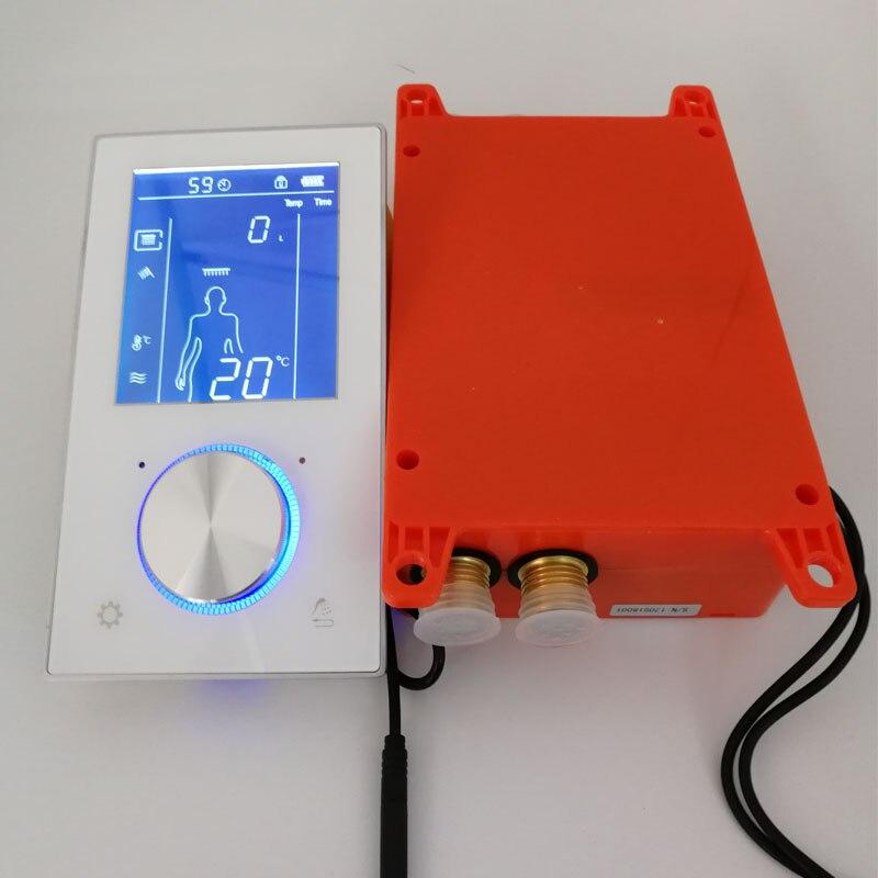 Termostato inteligente sistema de chuveiro válvula display lcd painel do chuveiro tela toque misturador do banheiro torneira parede escondida 2/3 funções