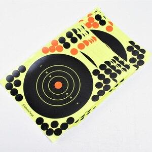 """Image 4 - 50PCS Adhesive Shooting Targets Glow Shot Reactive  8"""" Splatter Gun and Rifle Target Paper"""