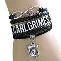 NEW RAAIVED Infinity Bracelet Love CARL grimes cowboy hat DARYL DIXONC rossbow Bracelet Walking Dead Bracelet Custom