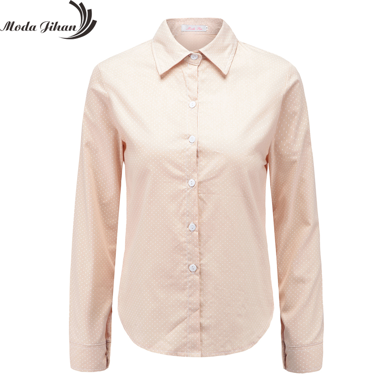 Moda Jihan New Women Blouses Polka Dots 100 Cotton Blouse