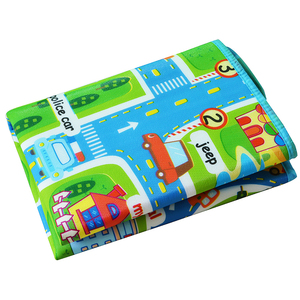 Image 2 - 0.5 cm Thick Town City Traffic Baby Crawling mat EVA Foam Climbing Pad  Green Road Childrens Play Mat Carpet for Baby