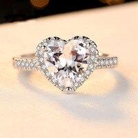Обручальное кольцо кубического циркония Сердца и стрелы ограненные ювелирные изделия подарок для влюбленных 5,5 мм 0.8CT 100% натуральная кольц