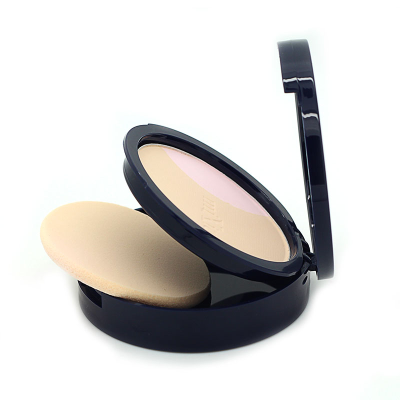 Organic Natural Face Makeup Setting Powder Palette Base Foundation Perfect Cover Blemish Brighten Skin 2 Color Pressed Powder image
