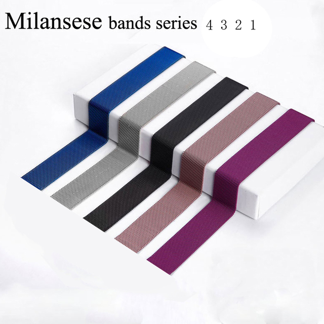 Strap For Apple Watch band apple watch 4 3 iwatch band 42mm 38mm 44mm 40mm Accessories Milanese loop pulseira correa Bracelet 1
