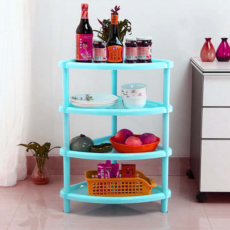 2017 Newly Household Storage Shelves High Quality 4 Layers Racks Product For Wall Corner Kitchen Bathroom