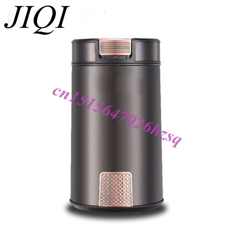 JIQI Electric Coffee bean Spice Grinder Medicine Pulverizer Whole Grains Nuts Mill abs plastic electric pepper spice sea salt mill grinder muller yellow