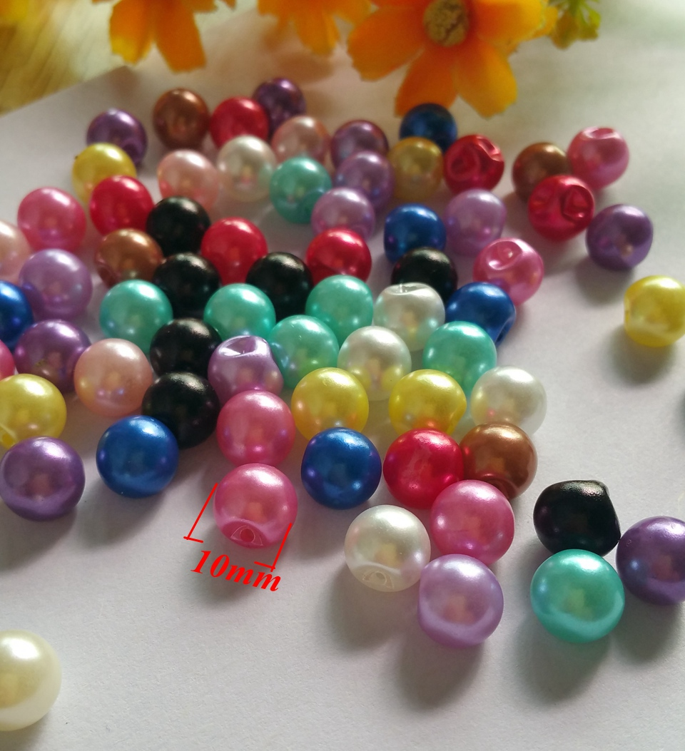 7412206392a63 Mixed Colorful pearl buttons 200pcs lot 10mm side hole Sewing buttons  garment crafts botoes scrapbook accessory.