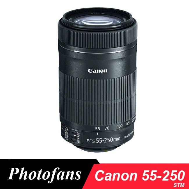 Canon 55-250 STM Lente Canon EF-S 55-250mm f/4-5.6 IS STM Lentes para 750D 760D 650D 700D 1200D 1300D T5 T6 T5i T3i 60D 70D 80D