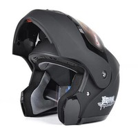 Chất lượng chuyên nghiệp đầy đủ mở khuôn mặt người đàn ông racing road đen xe máy motocross mũ bảo hiểm L XL XXL Casco de la motocicleta