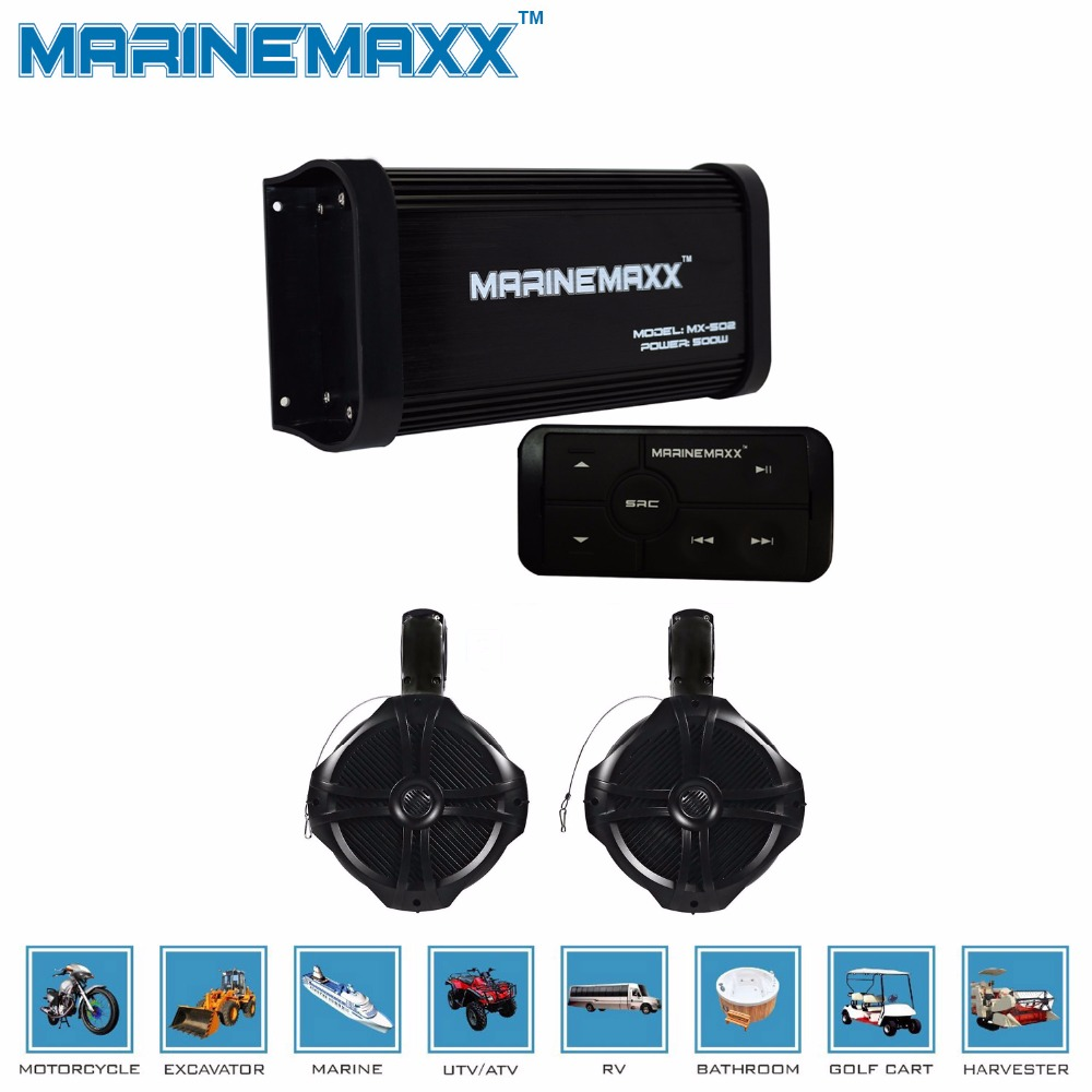 "Marine Bluetooth USB AM FM Radio,Antenna,Marine Amplifier,6.5/""WakeBoard Speakers"