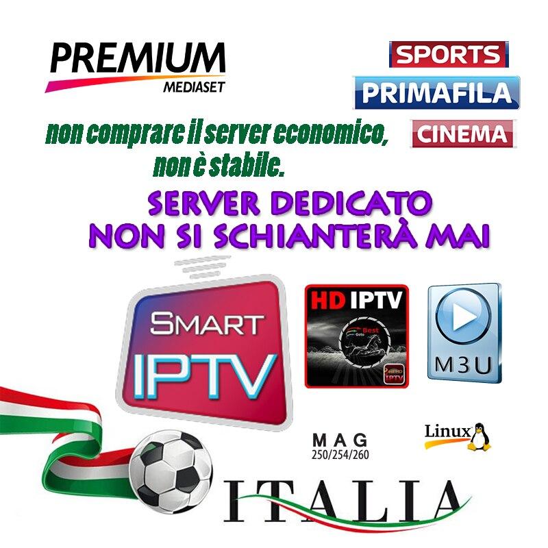 2019 IPTV M3U Enigma2 abonnement pour ITALIE ROYAUME-UNI Allemagne Espagne mediaset premium pour décodeur android télévision intelligente