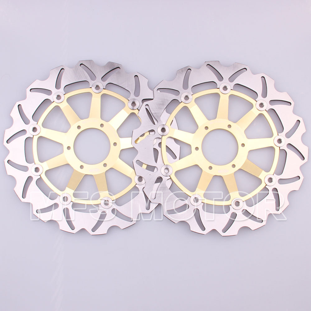 Hot Sale Motorcycle Parts Front Brake Discs Rotor For Honda Cbr600 Repair Information F4 1999 2000 99 00 Gold