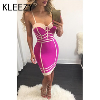 Slim Sling Dress 2017 Sleeveless Casual Elegant Dress Women Tight Sexy Club Cocktail Party Bodycon Bandage