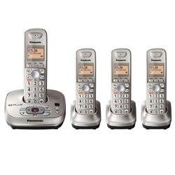 Telefone sem fio fixo com máquina de resposta handfree correio de voz retroiluminado lcd digital telefone sem fio para escritório casa bussiness