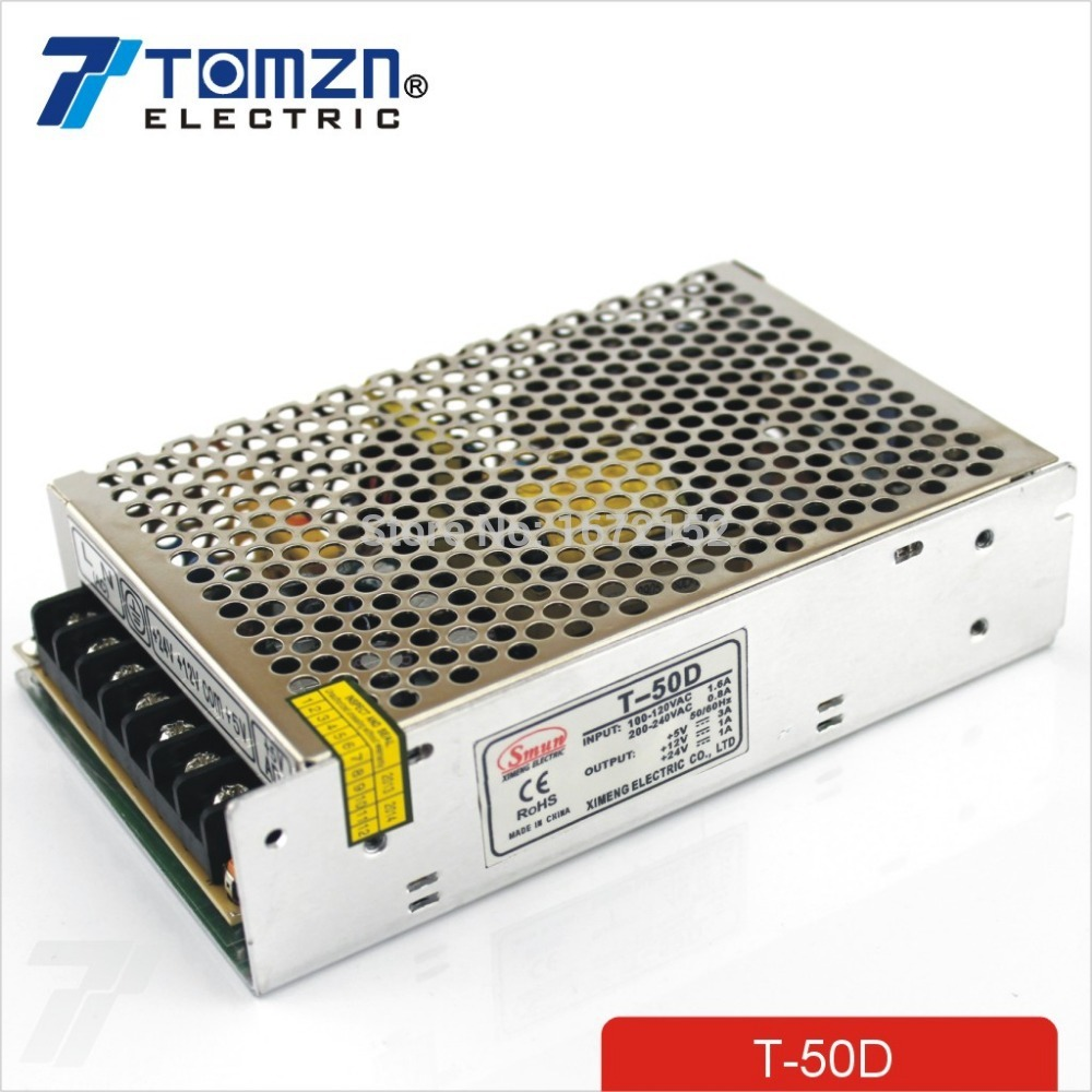 MW Mean Well NET-50D 12V 5V 24V 1A 3A 51W Triple Output Switching Power Supply