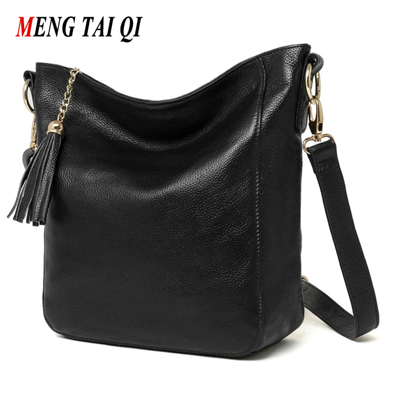 Tassel Women Bag Genuine Leather Shoulder Crossbody Bags For Women Bag Luxury Brand Leather Hot Sale 2017 New Arrival Fashion 4 aelicy luxury pu leather women s fashion hairball handbag bag female leather our brand soft new arrival crossbody bags for women