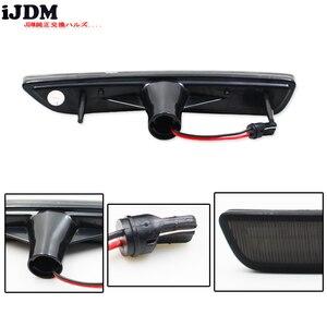 Image 3 - IJDM przydymione soczewki przednie boczne lampy obrysowe z 27 SMD bursztynowe/białe diody LED do 2010 2014 Ford Mustang przedni zderzak