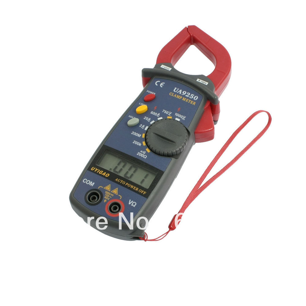 Battery Powered AC DC Voltmeter Ammeter UA9250 Digital Clamp Multimeter Tester Resistance Capacitance Instrument Tool Portable цена