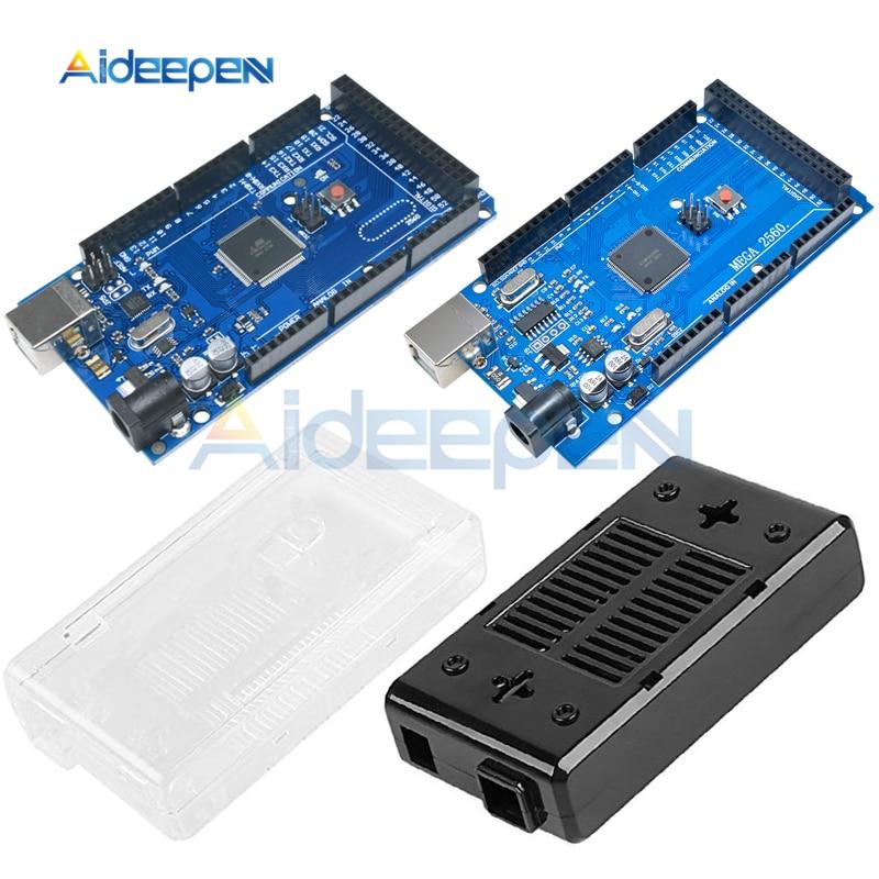 Original MEGA2560 MEGA 2560 R3 ATmega2560-16AU CH340G USB Development Board With Cable MEGA2560 Shell Case Box For Arduino