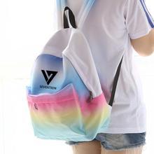 KPOP дома семнадцать 17 группы seungcheol же градиент розовый синий цвет холщовый мешок студент рюкзак