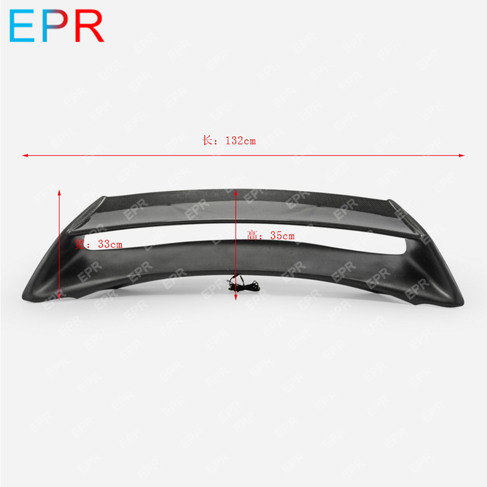 For Nissan 370Z Z34 Carbon Fiber AM Rear Spoiler With brake lights Auto Tuning Part For 370Z Carbon AM Rear Wing 2009 onwards in Body Kits from Automobiles Motorcycles