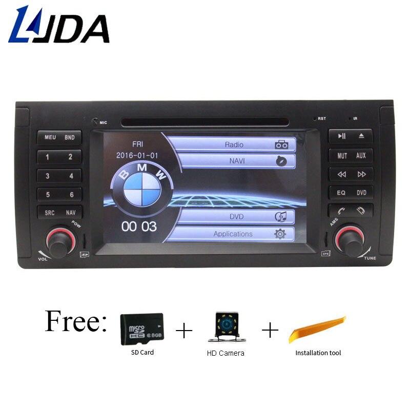 LJDA 1 Din 7 pouce lecteur dvd de Voiture Pour BMW E39 M5 E53 X5 1080 p FM Commande Au Volant GPS Auto Navigation Radio stéréo Carte Gratuite