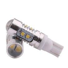 2 шт T10 W5W/194 samsung чип 10 светодиодный 2323 SMD боковой клиновидный светильник ксеноновая белая лампа