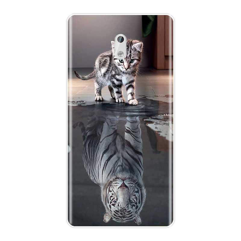 TPU Lovely animals Back Cover For Nokia 7 Plus X6 2018 Soft Phone Case Silicone For Nokia 1 2 3 5 6 8