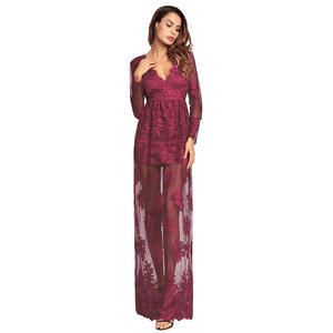 640bf1f75f9 romacci Sexy Maxi Dress Long Sleeves Dress for Women Party