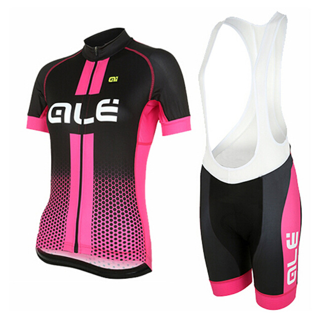 Summer ALE 2017 Women Short Sleeve Cycling Jersey Set Bicycle Clothes Bike Jersey Ropa Ciclismo Cycling Clothing For Women
