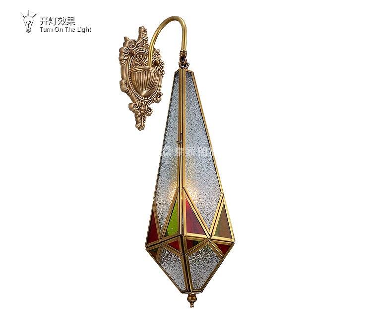 Evropský styl měděné nástěnné svítidlo jednoduchá noční lampa americká vstupní chodba plná měděná nástěnná lampa televizní nástěnná lampa