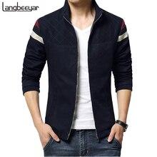 2015 Новая Мода Бренд Куртки Мужчины Лоскутное Тенденция Корейской Slim Fit Мужская Дизайнер Одежды Cotoon Мужчины Повседневные Куртки 4XL 5XL