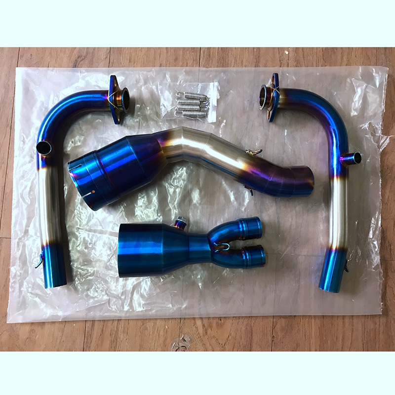 For Yamaha Tmax 530 2017 2018 Motorcycle exhaust muffler contact middle pipe full system