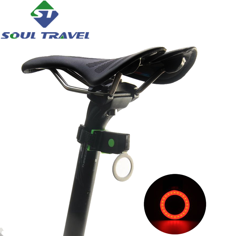 Soul Travel Led Rear Seatpost Bike Light Accessories Circle Usb Battery Charging Lamp Bicycle Comet Lights Luz Bicicleta New
