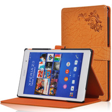 Fashion Print PU leather Protective Folding Folio Case for Sony Xperia Z3 Tablet Compact for 8'' Tablet PC