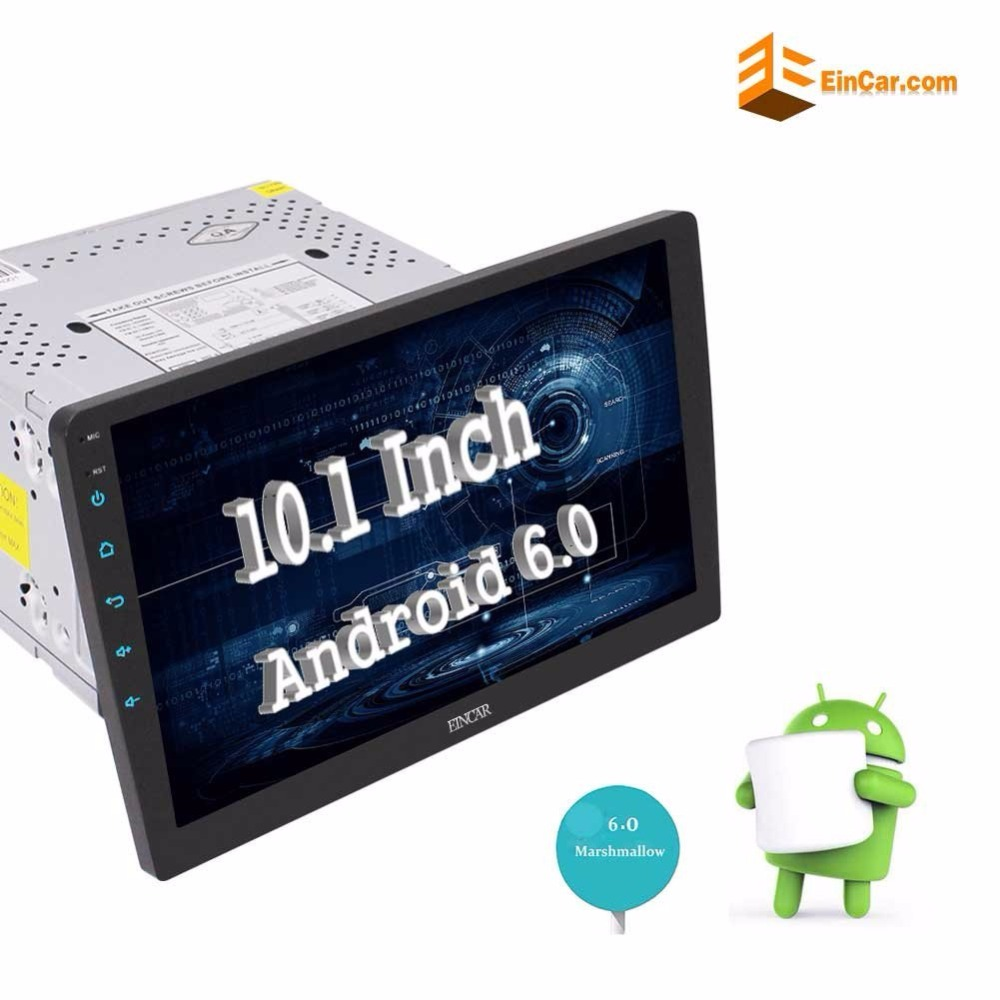 Eincar 10.1 Inch Android 6.0 2Din Car Stereo Radio GPS Navigation In Dash Headunit Bluetooth Wifi Touchscreen Support FM USB/SD