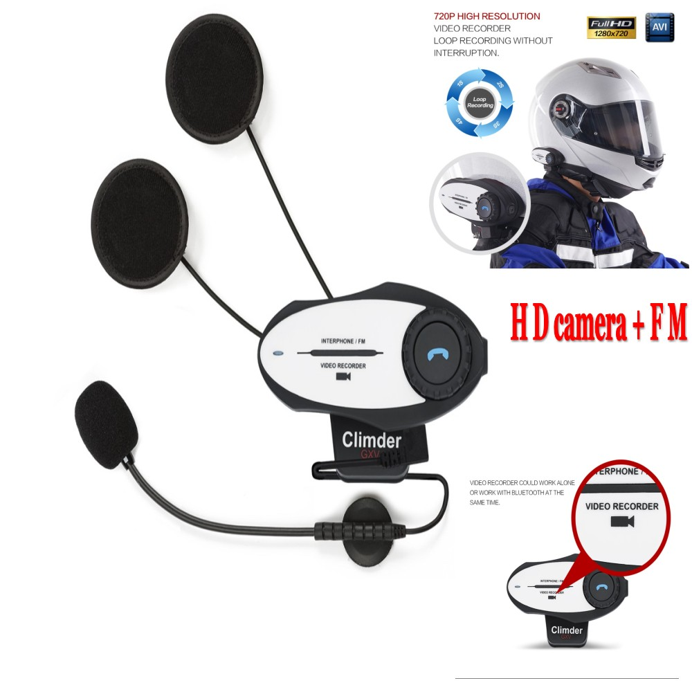 2016 hd camera new multifunction motorcycle helmet intercom bluetooth interphone headset video. Black Bedroom Furniture Sets. Home Design Ideas