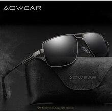 AOWEAR Mens Classic Aleación De Aluminio Y Magnesio gafas de Sol Polarizadas Masculinas Gafas de Aviador UV400Outdoor Conducción gafas de sol hombre