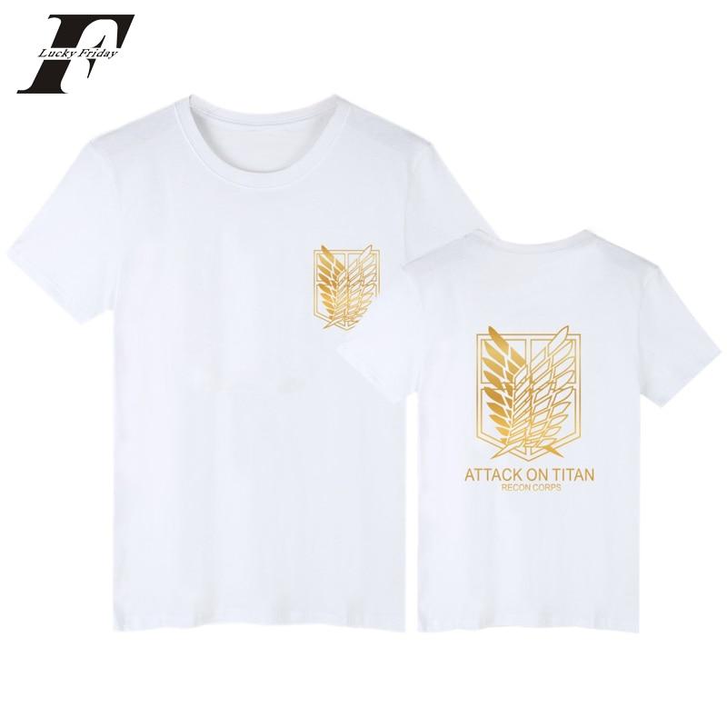 2017 harajuku attack on titan fitness T Shirt 4xl T-shirt Men women funny t Shirts Japanese Plus Size Brand Clothing