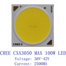 Big sale-100W Cree CXA3050 CXA 3050 COB Led Emitter Lamp Lights 2A 5700K 6V-42V 2500MA 75CRI 80CRI High Intensity Led Beads