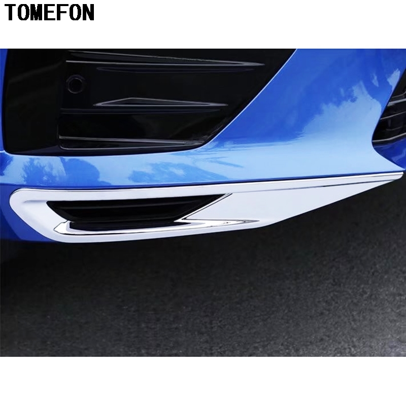 TOMEFON ABS Chrome For <font><b>Volvo</b></font> XC60 <font><b>XC</b></font> <font><b>60</b></font> <font><b>2017</b></font> 2018 2019 Front Foglight Cover Trims Bottom Head Fog Lamp Shade Hood image