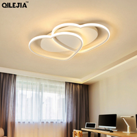 Modern Acrylic LED pendant lights for living room bedroom White Simple Plafond led ceiling lamp home lighting fixtures AC85 260V