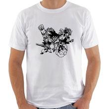 SONGOKU SAIYAN TEAM VECTOR CARTON DRAGON BALL Z man white t-shirt 100%cotton Free shipping Harajuku Tops Fashion Classic Unique