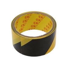 2 шт MOOL 32,8фт 10 метров черный желтый пол клейкая безопасная клейкая лента