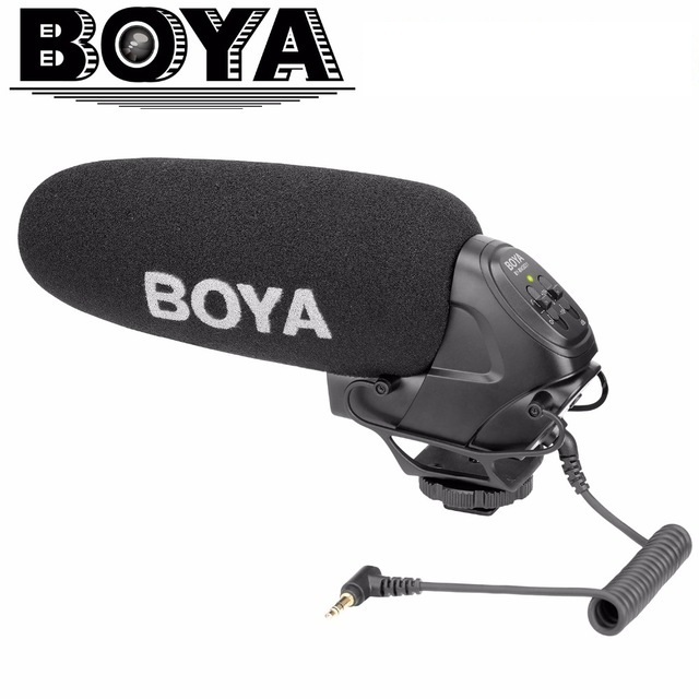 BOYA BY BM3031 Microphone Supercardioid Condenser Interview Capacitive Mic Camera Video Mic for Canon Nikon Sony