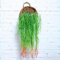 10pcs Hanging Artificial Antigonon leptopus Wall Flower Ivy Garland Vine Greenery For Wedding Home Office Bar Decorative